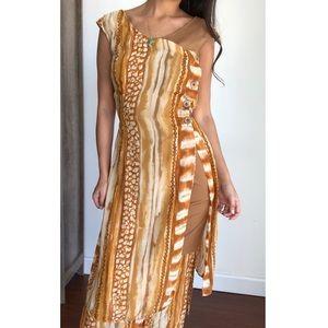 Vintage Joseph Ribkoff African Inspired Robe Dress